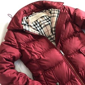 Burberry Burgundy Goose Down Puffer